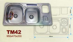 Chậu rửa bát Tân Mỹ TM 42