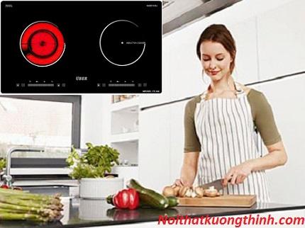 Nấu ăn nhanh hơn tiện lợi hơn với bếp điện từ Uber 3V866