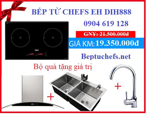 Bếp từ Chefs EH DIH888 khuyến mại hè giá cực rẻ