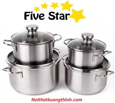 Bộ nồi Fivestar 4 chiếc kiểu dáng sang trọng đầy cá tính