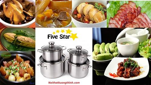 Trổ tài nấu ăn cùng với bộ nồi Fivestar 4 chiếc