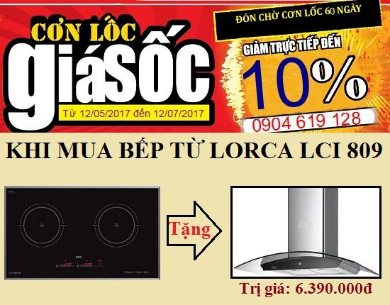 Chương trình khuyến mãi hấp dẫn khi mua bếp từ Lorca LCI 809