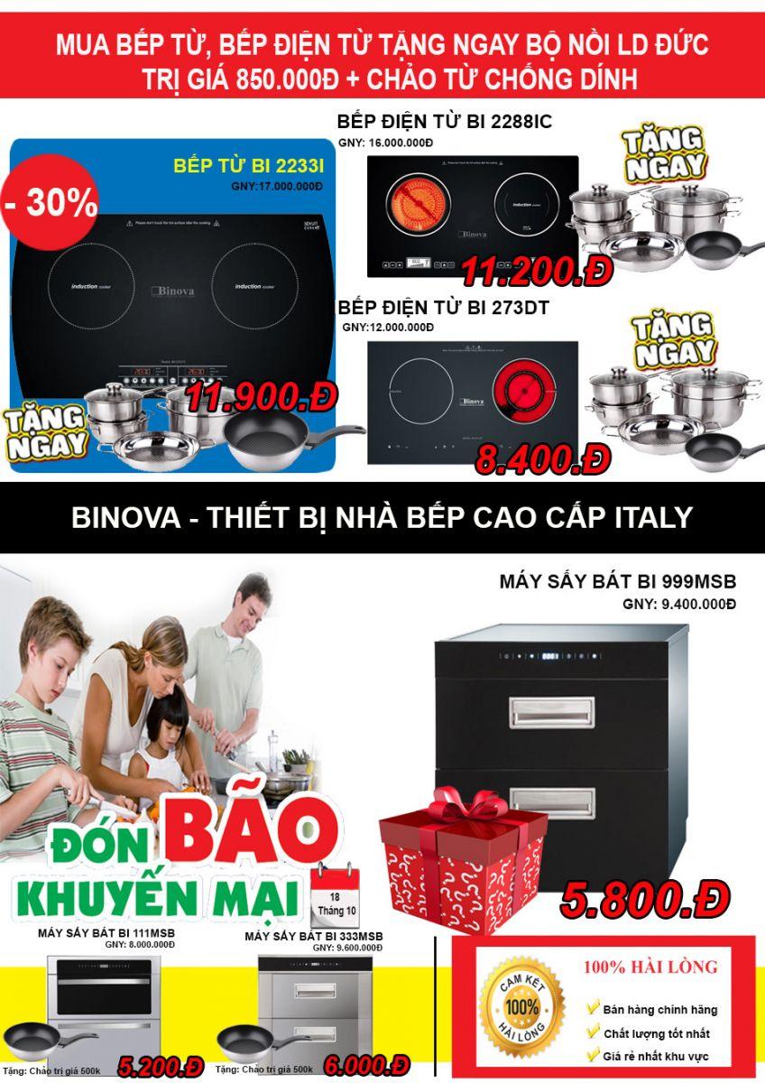 khuyến mãi bếp từ Binova