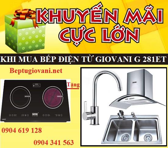 Khuyến mãi cực lớn tặng quà tặng hấp dẫn khi mua bếp điện từ Giovani G 281ET